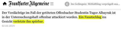 """""""Ein Faustschlag ... verletzte (sic!) ihn spürbar."""" - Was denn sonst? Wenn Sätze einfach nicht gelingen wollen... • <a style=""""font-size:0.8em;"""" href=""""http://www.flickr.com/photos/77921292@N07/16429955675/"""" target=""""_blank"""">View on Flickr</a>"""